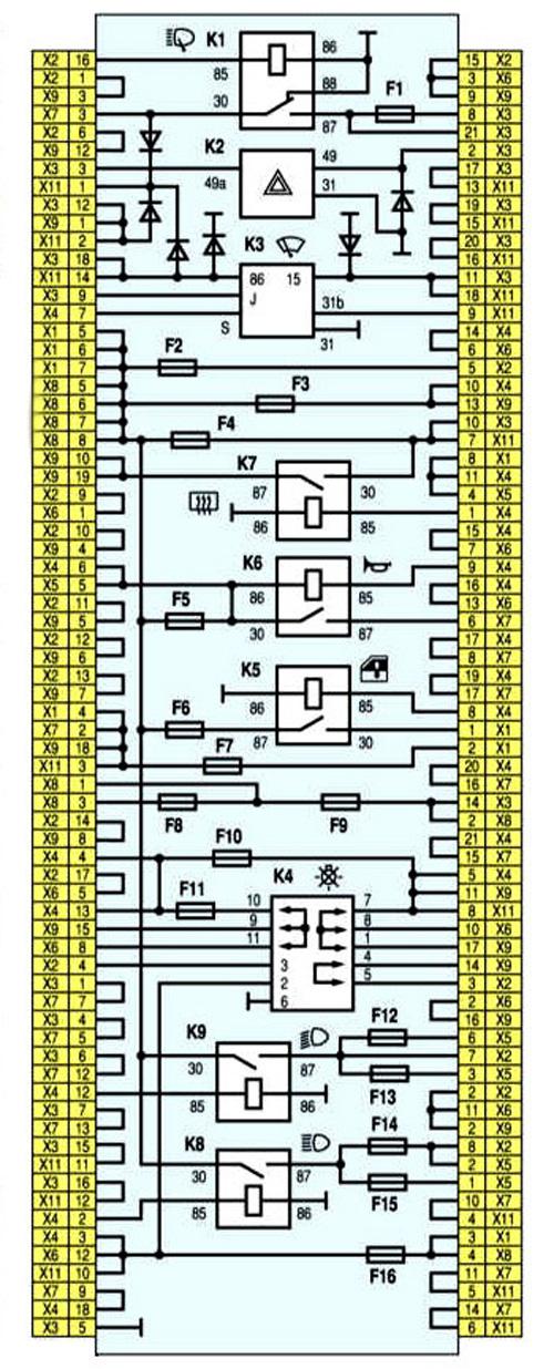Монтажный блок ВАЗ-2113, 2114, 2115 Вариант №2.